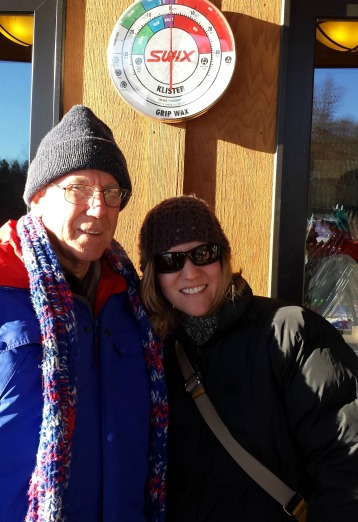 Dad and I at the warming house of a nearby nature center. We made some cards there on a subzero afternoon.